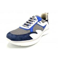 Fluchos Maddox F0750 Azul | Zapato sport de piel ultraligero
